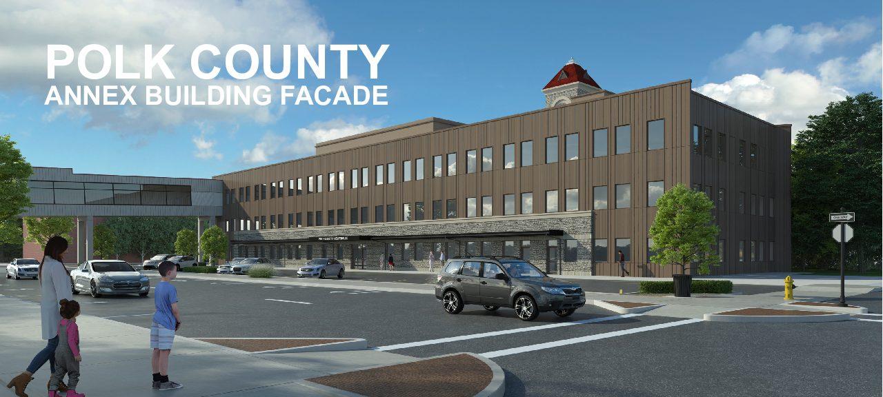 Polk County Annex Facade