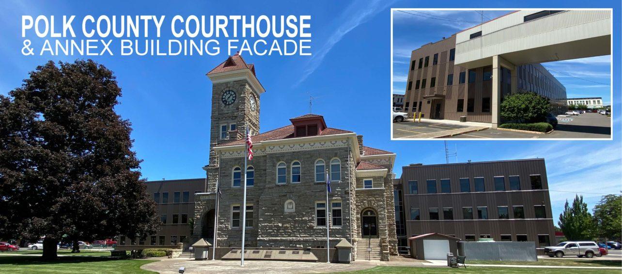 Polk County Corthouse & Annex Facade